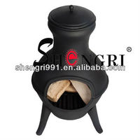 Shengri Small patios and porches terracotta chimineas