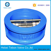Ductile Iron Wafer dual plate Check Valve Cast Iron Butterfly disc Check Valve