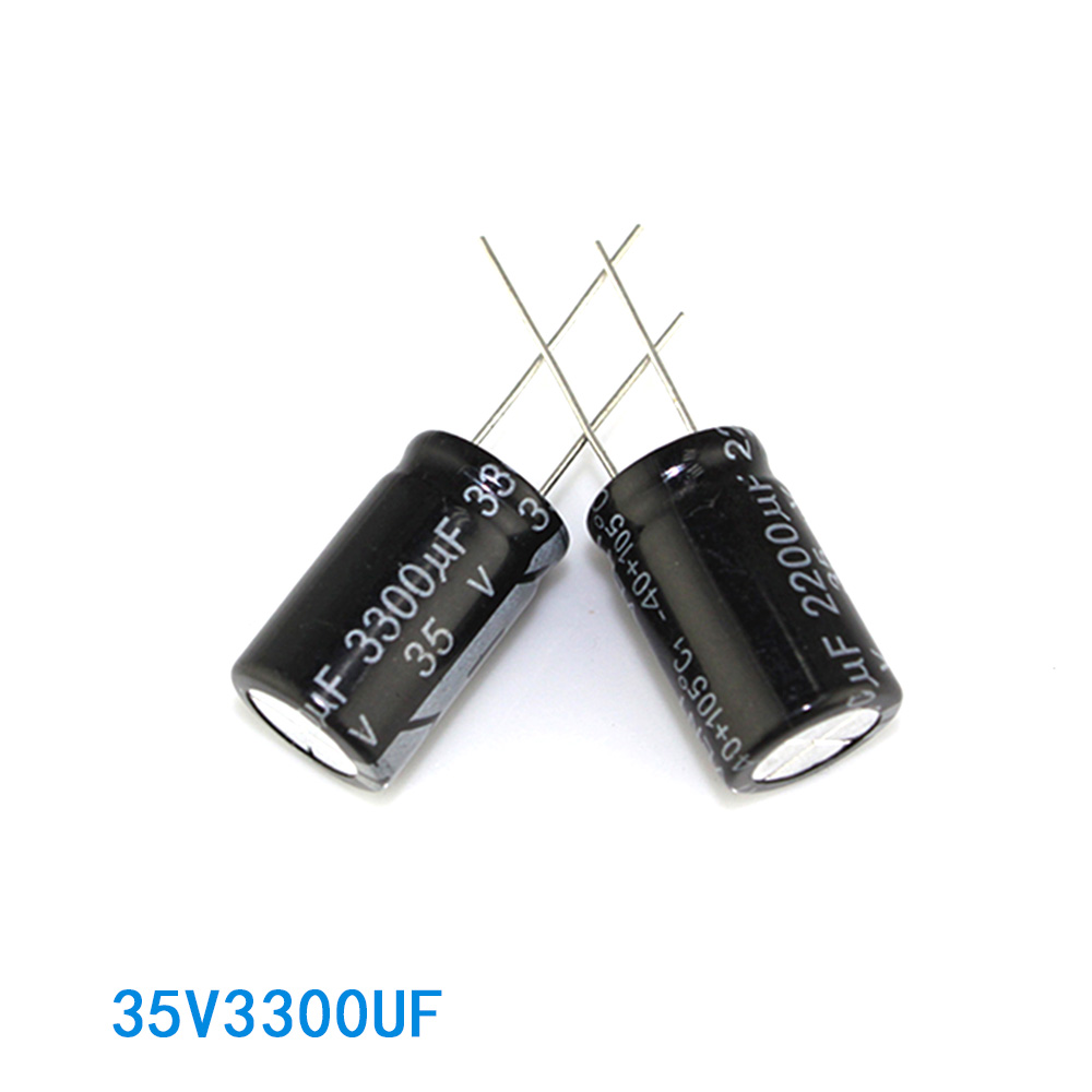 Good price black 35V massive capacitor 3300uf with ribbon
