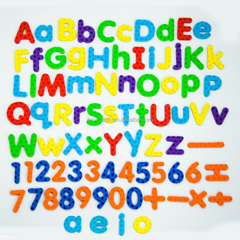 magnetic letters and numbers education child letters customized EVA magnetic letters Magnet Toy