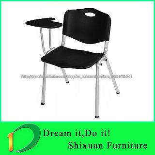 Precio bajo pl stico silla de la escuela con el tablero de for Sillas de plastico precio