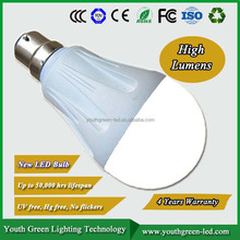 5 years warranty, golf led bulb CE ROHS 2 years warranty A60 9W 800lm e27 led bulb