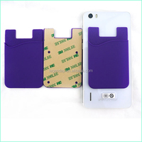 Factory Mobile Phone Accessories Silicone Smart Phone Casewith Adhesive Sticker