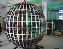 P3 dia2m full color sphere led led display screen/ball led/Round shape LED Display