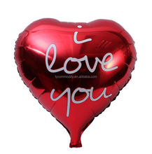 heart shape custom made helium foil balloon for decoration