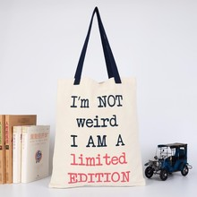 Shoulder Grocery Shopping Organic Cotton Bags Tote Bag Promotional