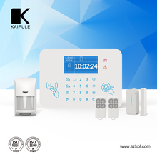 Wireless Home security GSM Alarm system with LCD,Touch keypad and wireless siren gsm dialer for alarm system