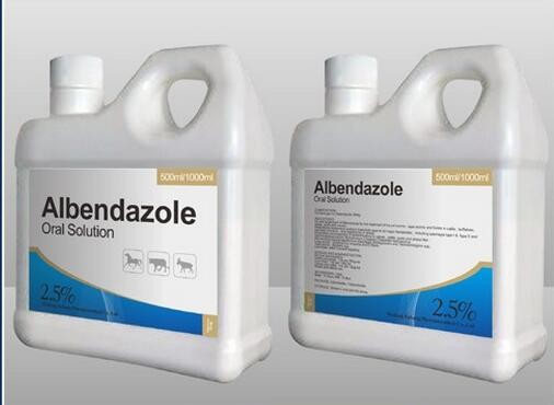 Albendazole liquid oral solution