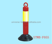 Road safety product,high quality plastic pipe bollard,road parking bollard