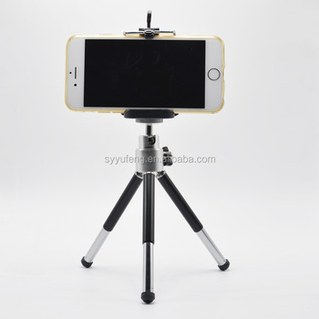 Metal folding table tripod for cellphone mini tripod