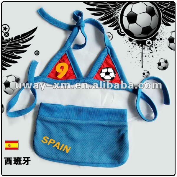 Lovely dog bikini for Spain football team