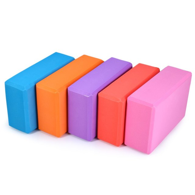 4 Colors Pilates EVA Yoga Block Brick Sports Exercise Gym Foam Workout Stretching Aid Body Shaping Health Training