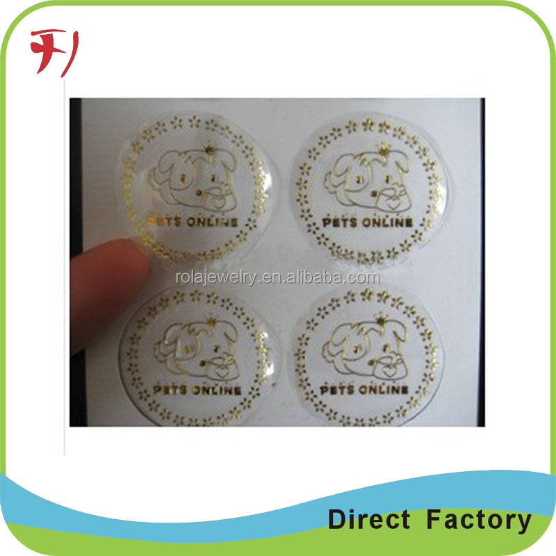 hot stamp High quality removable double side custom printed colorful cosmetics label