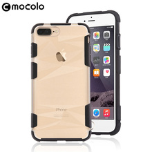 Ultra Slim Transparent 2 in 1 Mobile Phone Case Cover for iPhone 7 Plus, for iPhone 7 Back Case