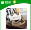 Stripe canvas handbag type shoulder women bag