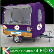 Best selling factory supply Fried Ice Cream roll food van.mobile kitchen food van