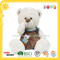 Newly-designed Funny Stuffed Bear Toys, White Bear Series
