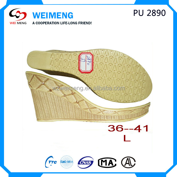 durable tpr and pu sole for ladies flat wedges sandal soles