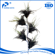 Manufacturer E-81 Environmentally Prime Quality Saddle Peacock Feather Stem Dyed Feather Picks