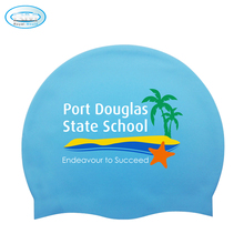 Customized Printed Soft Silicone Waterproof Swimming Cap