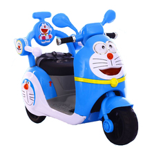 Cartoon image kids motorcycles ride on car children toys
