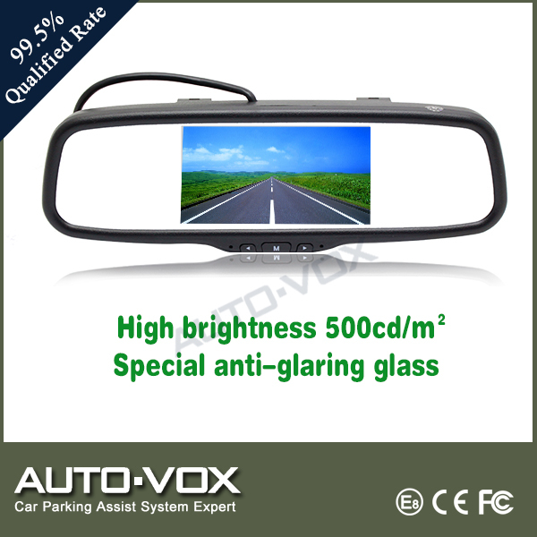 Clip-on Mirror Monitor 5'' Rear View Mirror With Special Anti-glare Glass