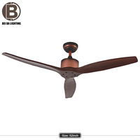"Remote control 52"" Ceiling Fan with Light real wooden blades for sale"