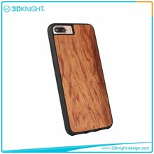 Fashion Style tpu+wood phone case mobile plain cover for 7 7plus
