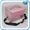 Aluminum makeup train case/cosmetic box