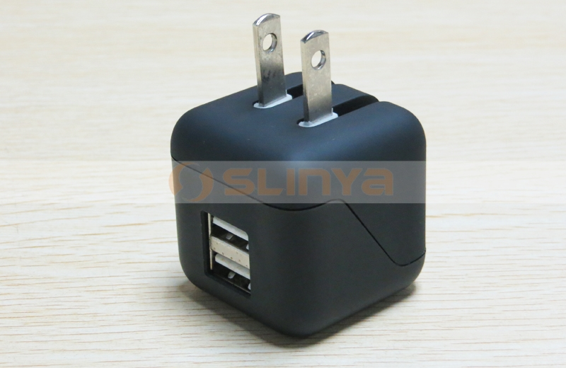 Hot Selling Dual USB Foldable Charger For iPhone 6 6S Samsung S6 Mobile Phone Tablet