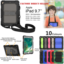 Full Body Protective Case for iPad Pro 9.7 Cover with Shoulder Strap and Kickstand