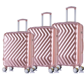 Pc Material 3-Piece Travel Trolley Luggage For Sale