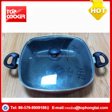 Aluminium Color Non-stick Kadai Pan with Honeycomb