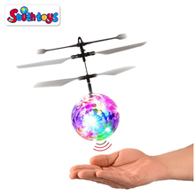 Hot Sale RC Infrared Induction Aircraft Helicopter Toy Flying Ball With LED Shinning Flashing Lighting