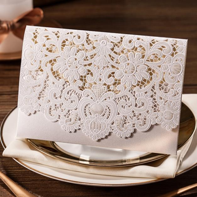 Flower Embossed Invitation Card Flower Embossed Invitation Card – Embossed Invitation Cards