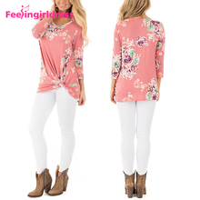 New Design Women Pink Long Sleeve Embroidery Fashion Lady Blouse
