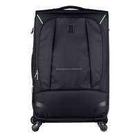 tsa lock customize logo built-in beautidul lining aluminium luggage trolley case