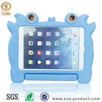 Kid proof tablet silicone case for ipad with stand handle