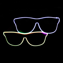 Hot Sale Cheap Led Sunglasses EL Wire Led Flashing Light Up Sunglasses