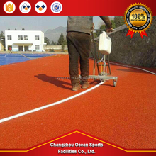 China international standard Environmental protection non-toxic high resistant stadium mixed plastic runway material