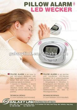 Pillow Alarm clock with sound and vibration