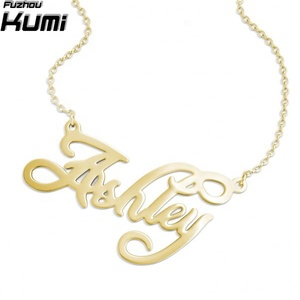 wholesale 925 silver moon personalized gold valentines day necklace