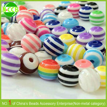 China Alibaba Express 20mm colorful resin striped bubblegum beads