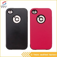 Attractive appearance double color in one 4 inch phone case for iphone 4/4s