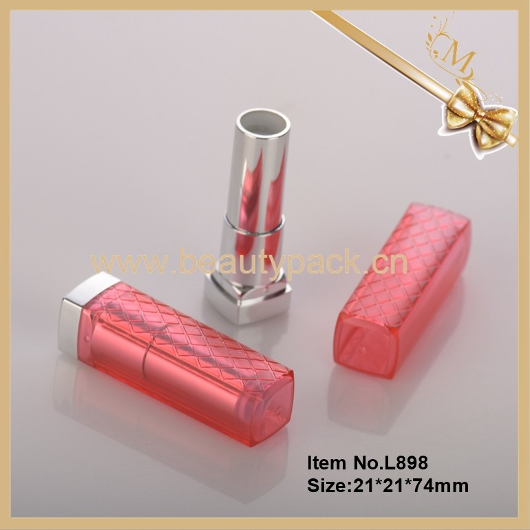 Wholesale empty pink square lipstick container
