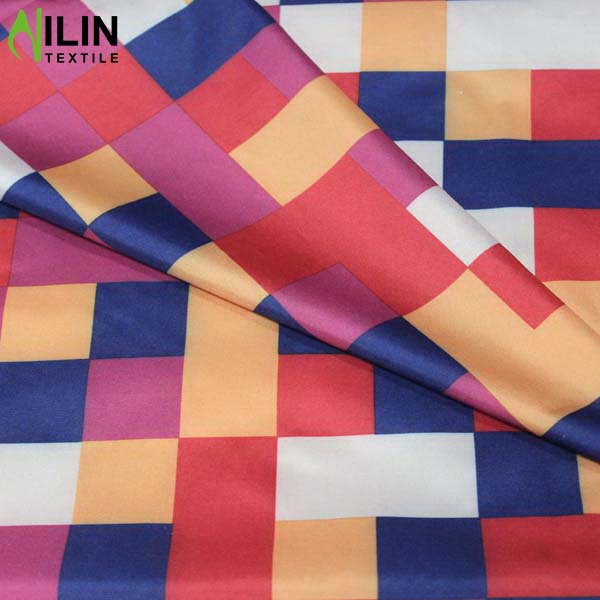 190T pongee check design umbrella fabric raincoat fabric