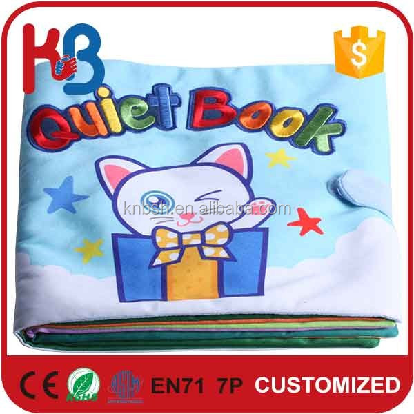 Rainbow Miao Brand baby toy soft cloth time sheet book