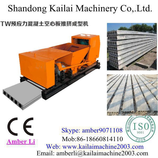 Precast Concrete Hollow Core Slab Machinery/equipment manufacturing of reinforced concrete