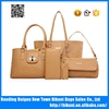 European fashion new designer high quality printed high quality women PU leather 5pcs in 1 tote bags set ladies handbags