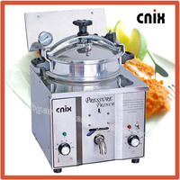 potato french fries equipment stainless steel table top pressure fryer